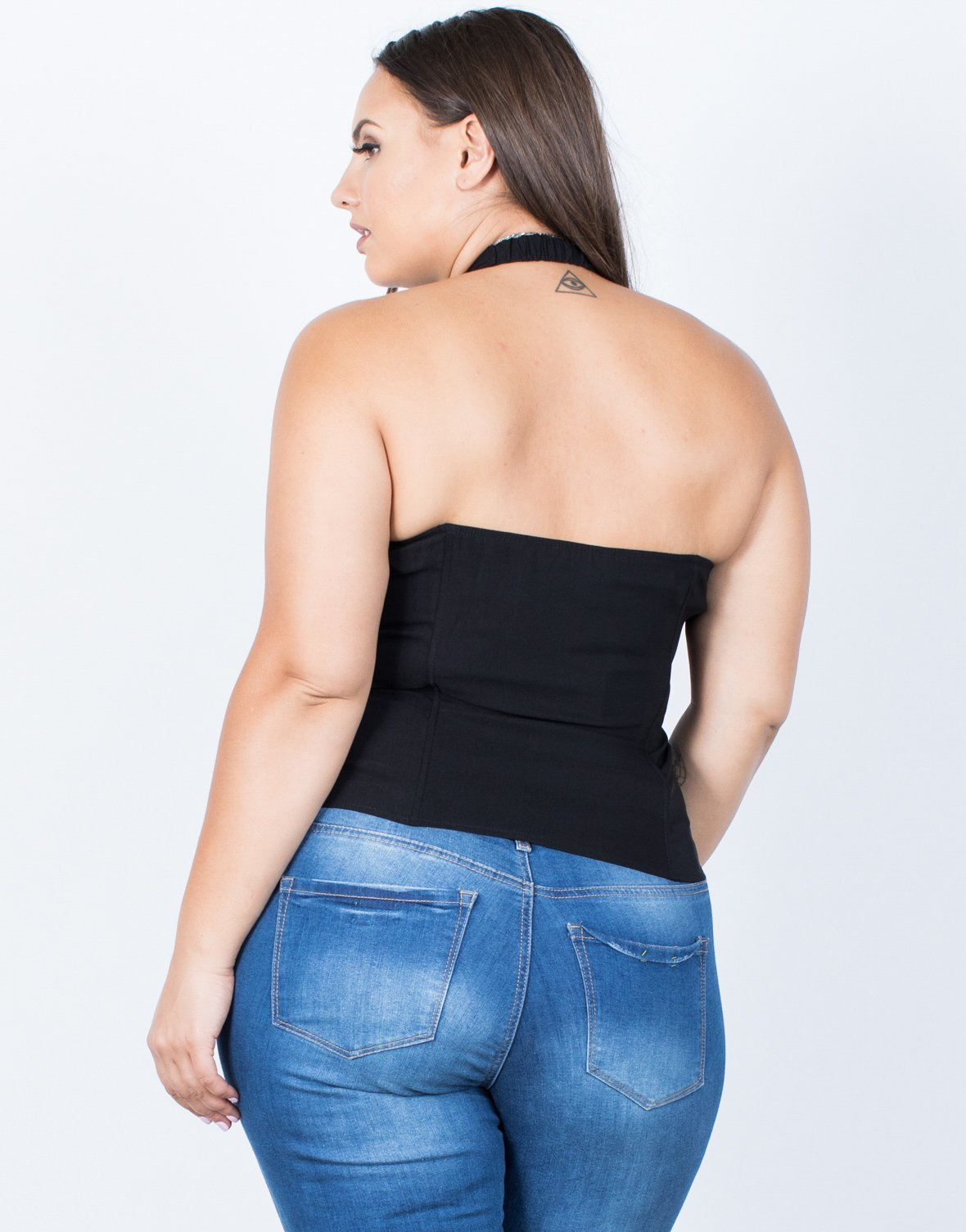 Plus Size Double Tied Party Top - 2020AVE