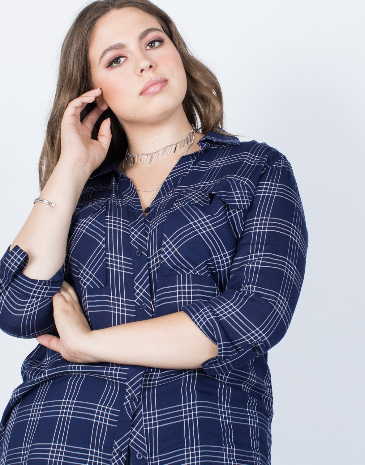 Plus Size Easy Livin' Plaid Top - 2020AVE