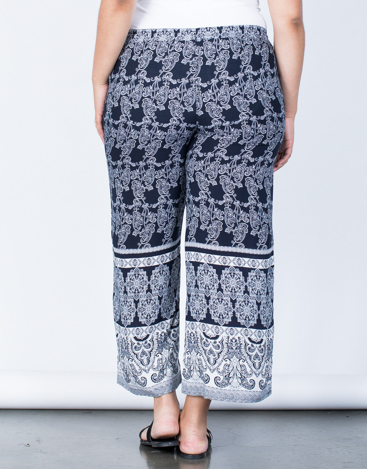 Back View of Plus Size Feelin' Bohemian Pants