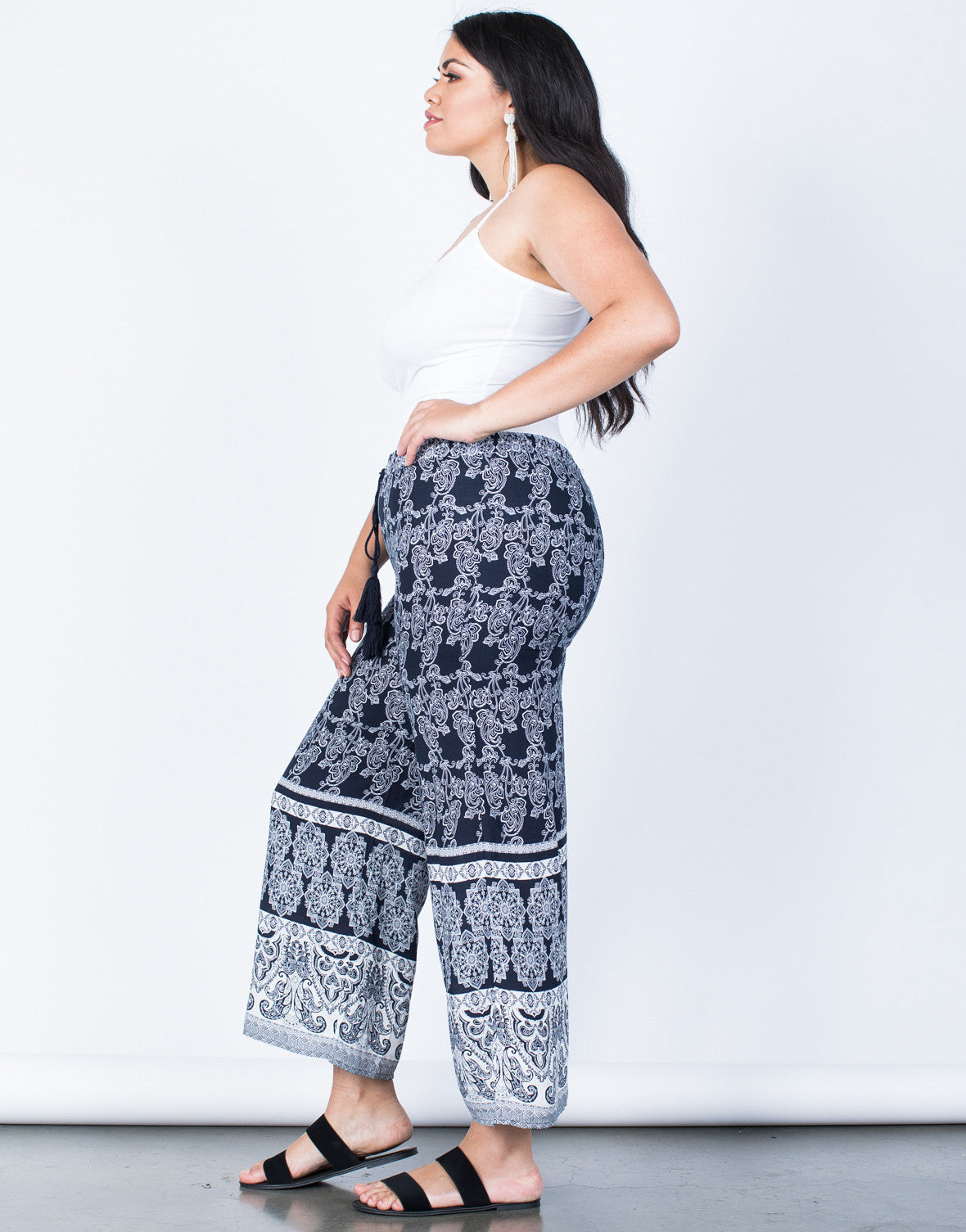 Side View of Plus Size Feelin' Bohemian Pants