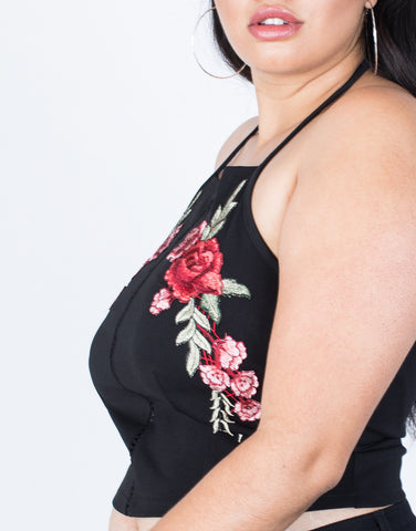Detail of Plus Size First Romance Rosey Tank