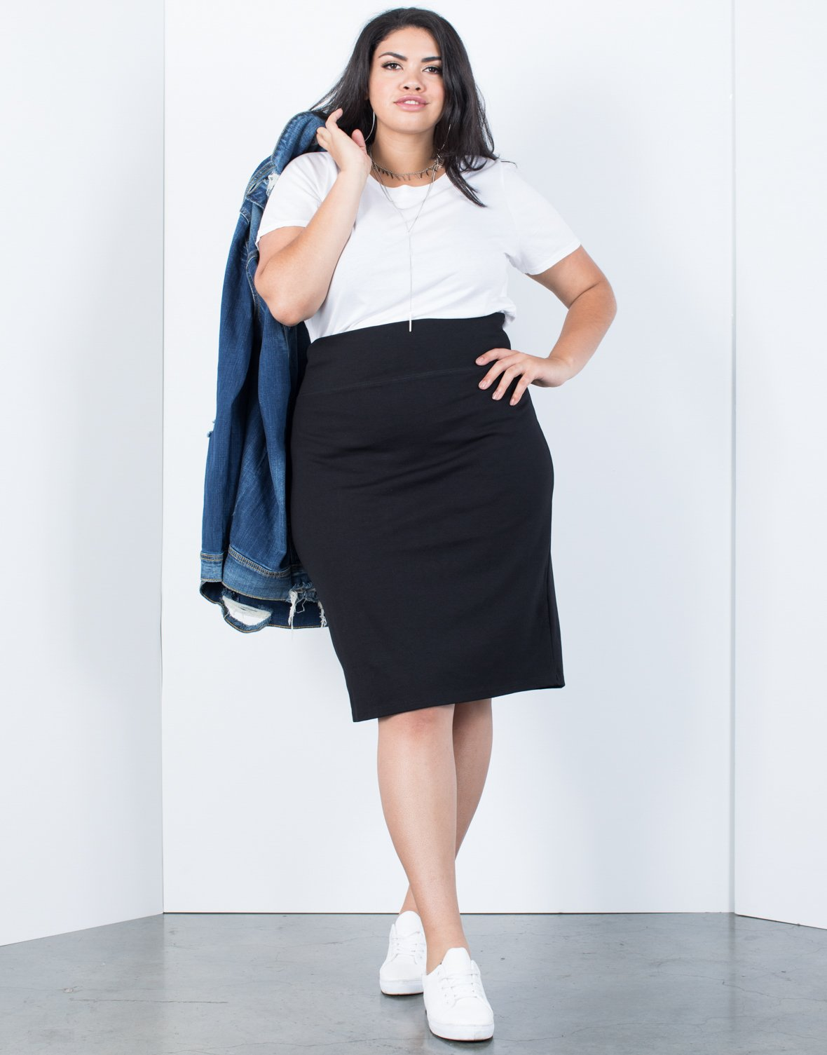 a7c8c313419 Plus Size Go-To Bodycon Skirt - 2020AVE ...