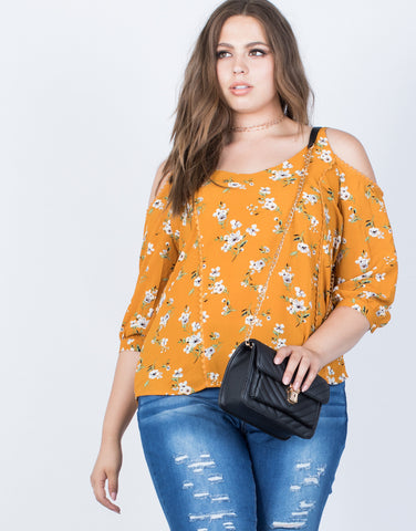 Plus Size Graceful Floral Blouse - 2020AVE
