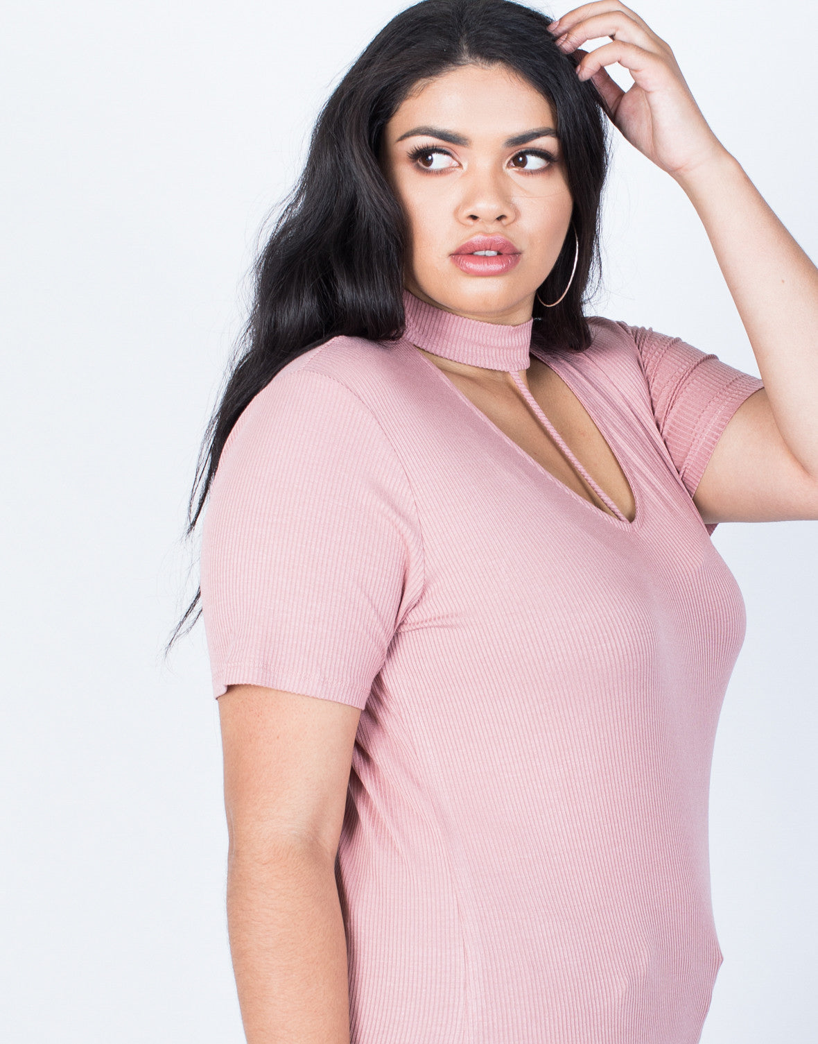 24100560d9ad8 Plus Size Hold Tight Basic Tee