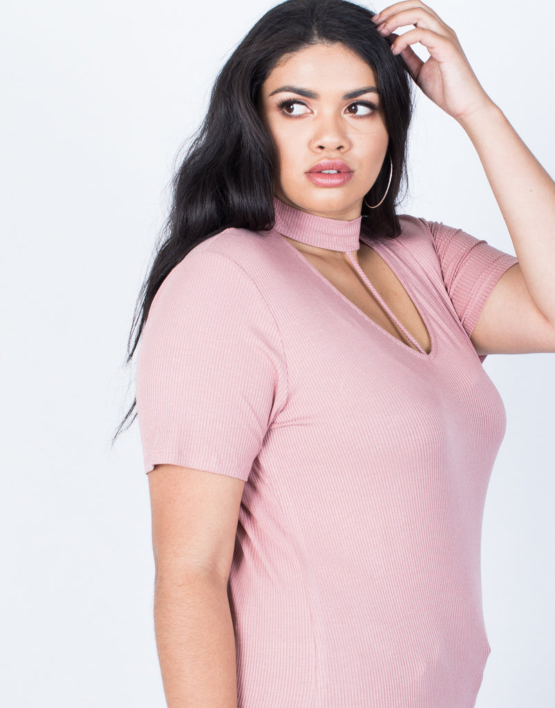 Detail of Plus Size Hold Tight Basic Tee