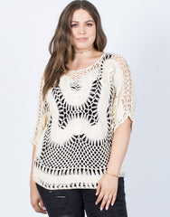 Plus Size Knitted Perfection Top