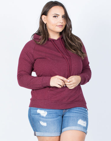 Plus Size Laid-Back Hoodie - 2020AVE