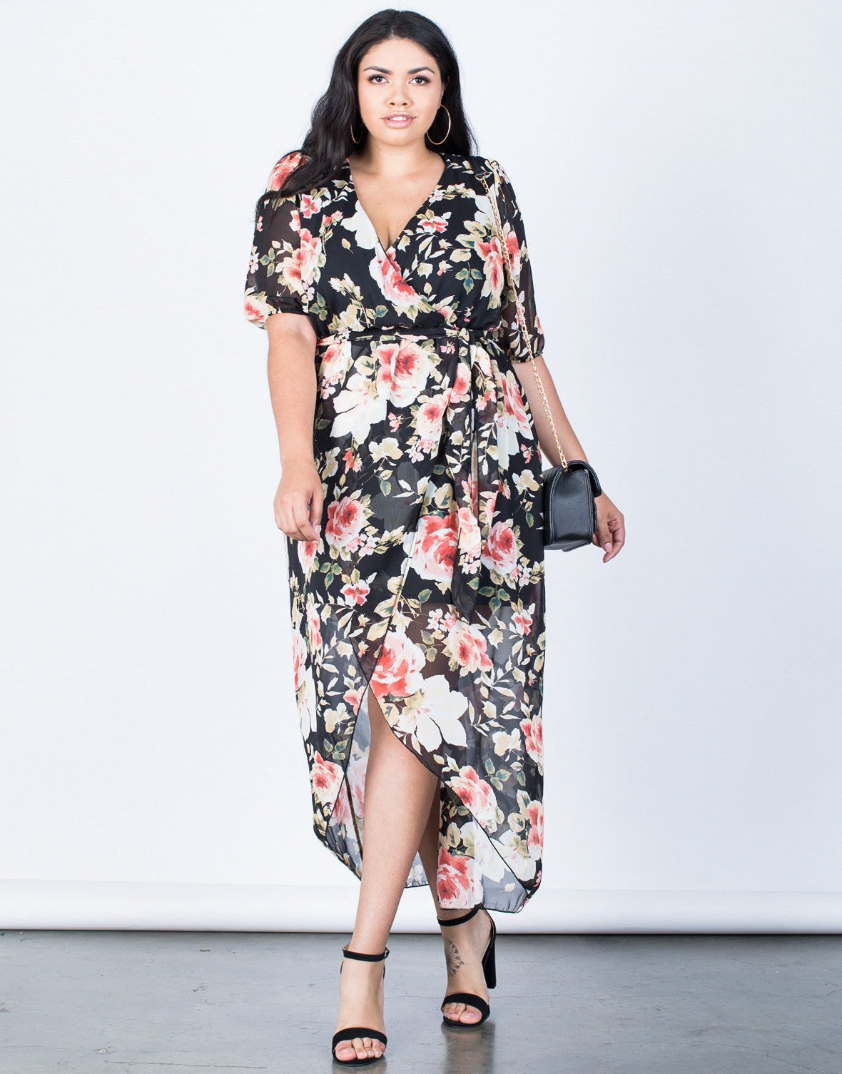 Plus Size Leia Wrap Dress - Plus Size Dresses - Plus Size Wedding ...