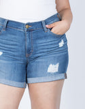 Plus Size Love Your Cuffed Shorts - 2020AVE