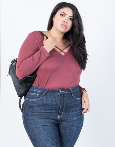 Plus Size Monica Knit Top - 2020AVE
