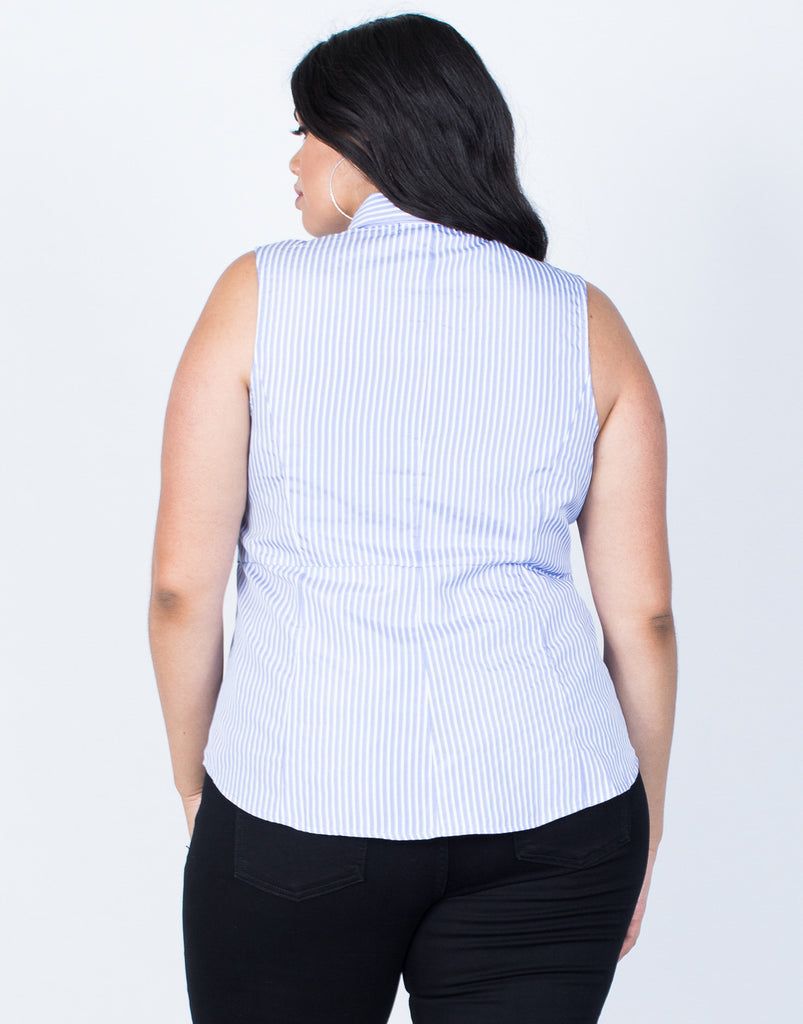 Back View of Plus Size Perfect Lines Tank