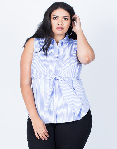 Front View of Plus Size Perfect Lines Tank