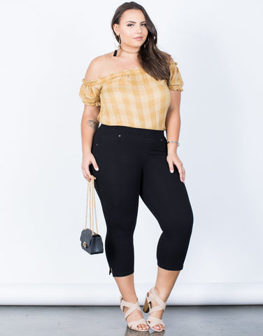 Plus Size Relaxed Capri Pants - 2020AVE