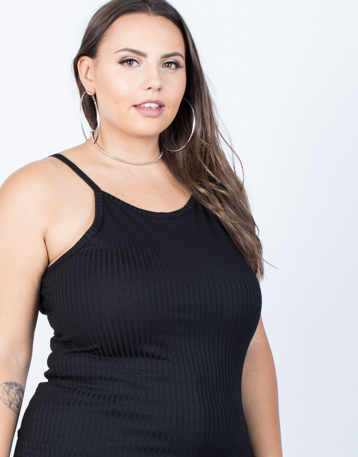 Plus Size Ribbed Lines Tank - 2020AVE