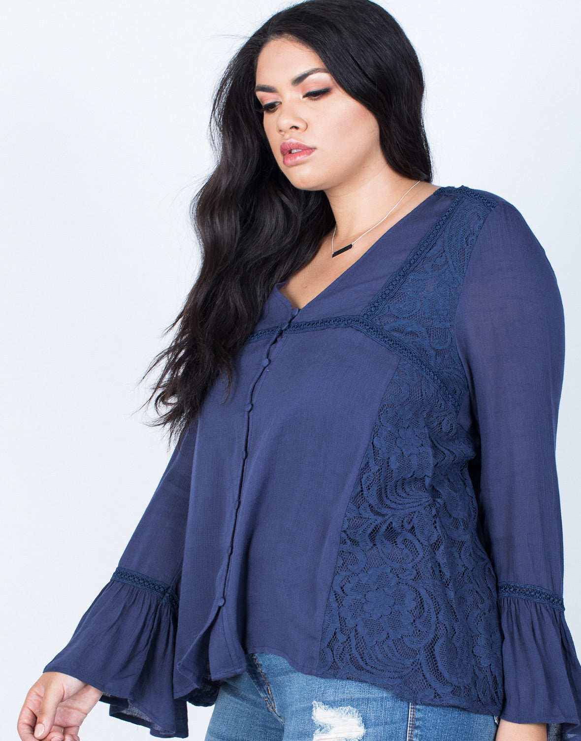 Detail of Plus Size Ring the Bell Top