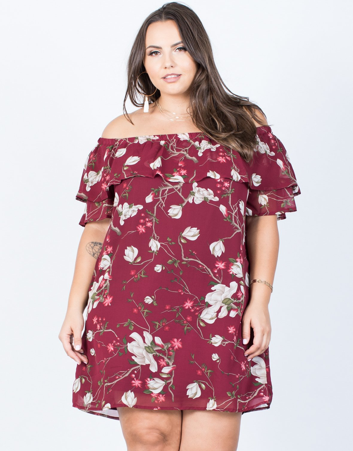 d782f82815a1 Plus Size Romantic Ruffled Dress - 2020AVE ...