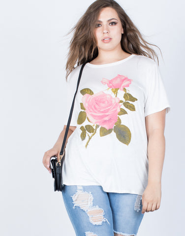 Plus Size Rosey Graphic Tee - 2020AVE