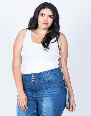 Front View of Plus Size So Comfy Basic Tank