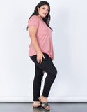 Marsala Plus Size So Relaxed Tee - Side View