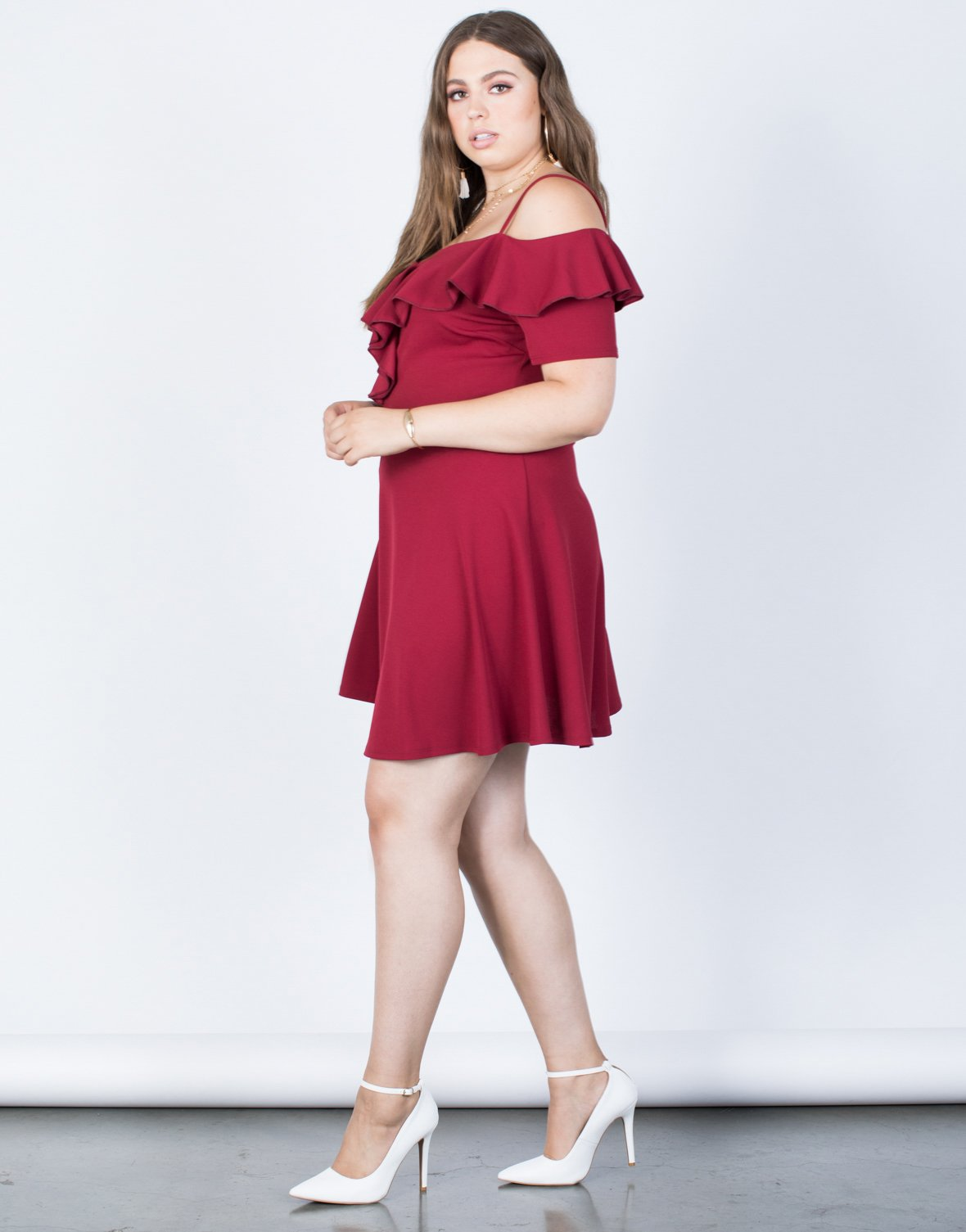 Plus Size Spin Me Ruffled Dress - 2020AVE