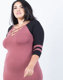 Plus Size Sporty Striped Dress - 2020AVE