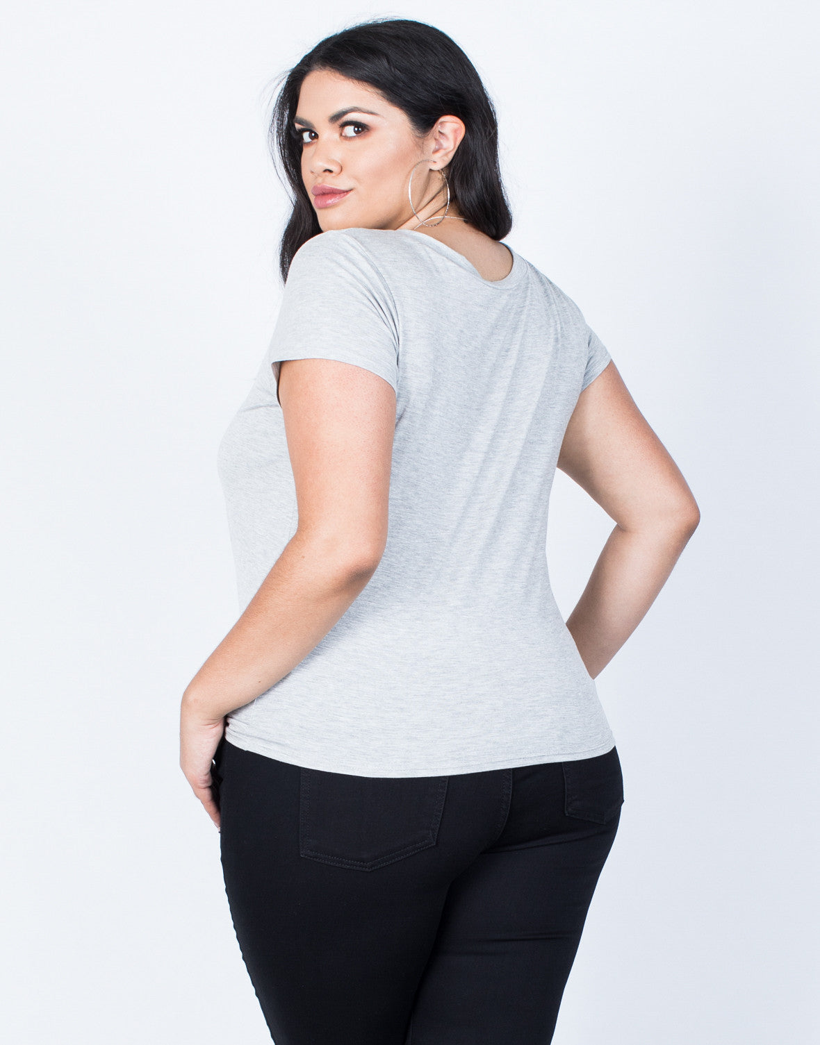 Back View of Plus Size Stay Cool Graphic Tee