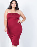 Plus Size Strapless Bodycon Dress - 2020AVE