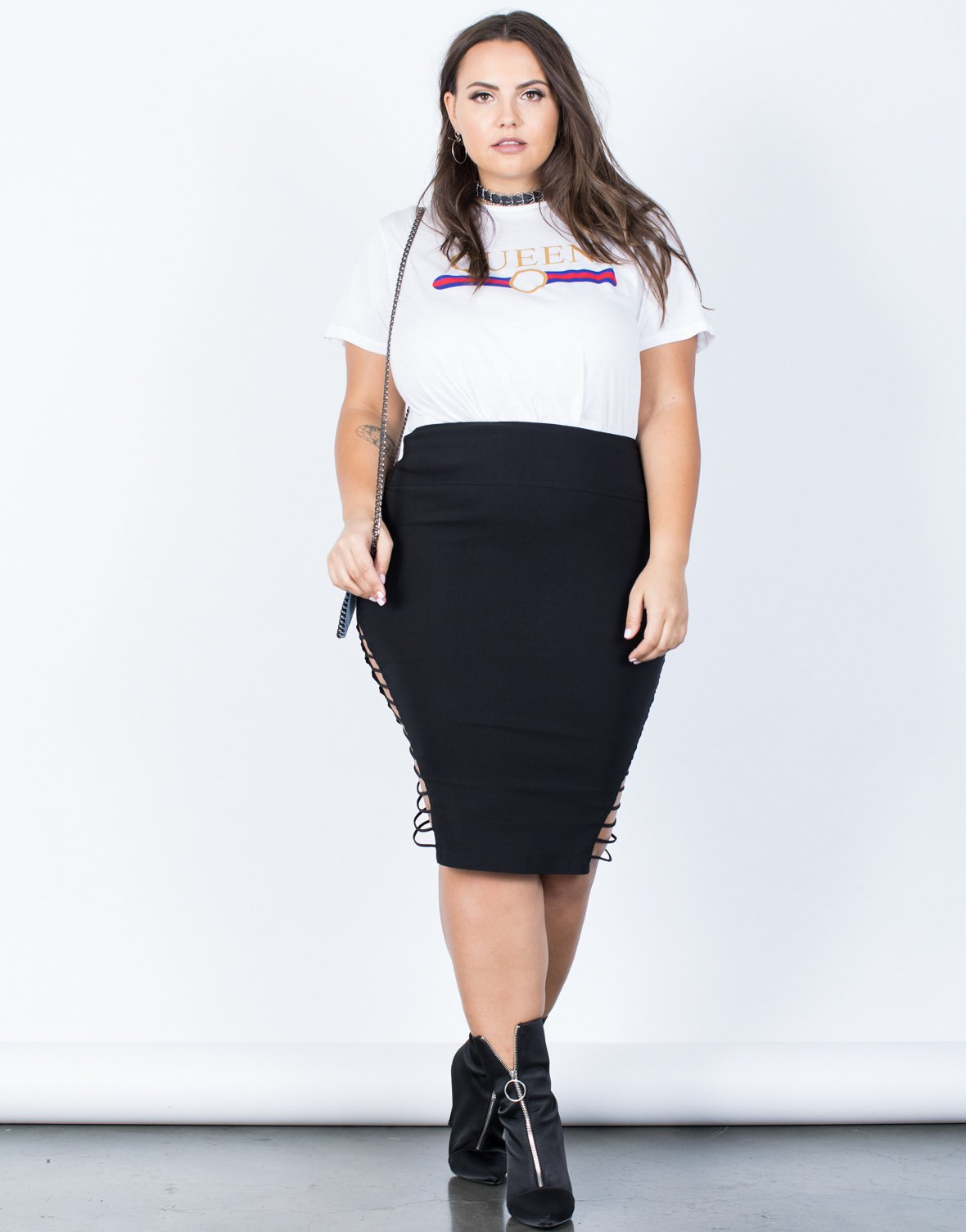 Plus Size Strapped Out Party Skirt - 2020AVE