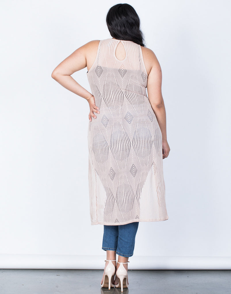 Back View of Plus Size Summer Vacay Maxi Top