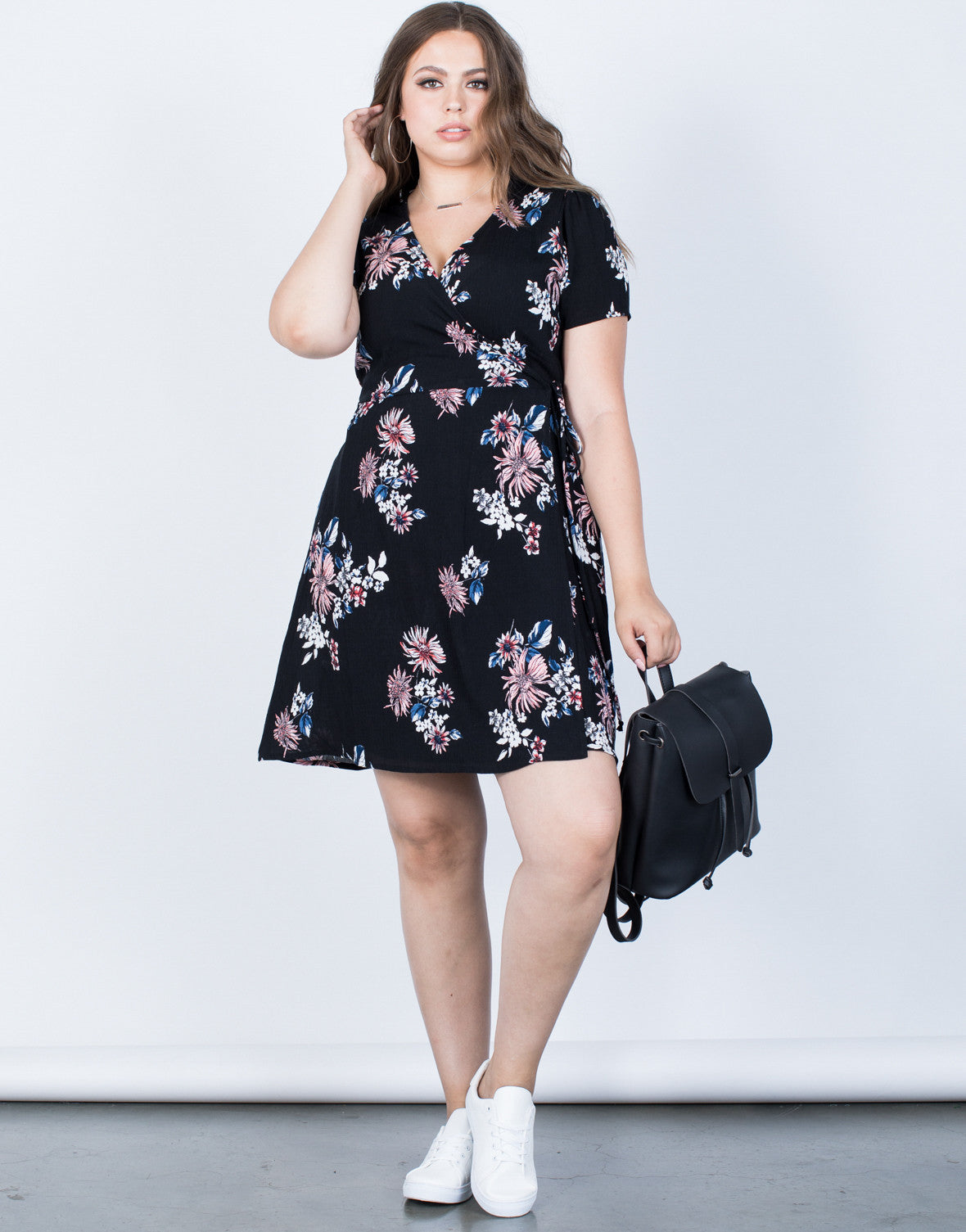 Plus Size Summer Wrap Dress