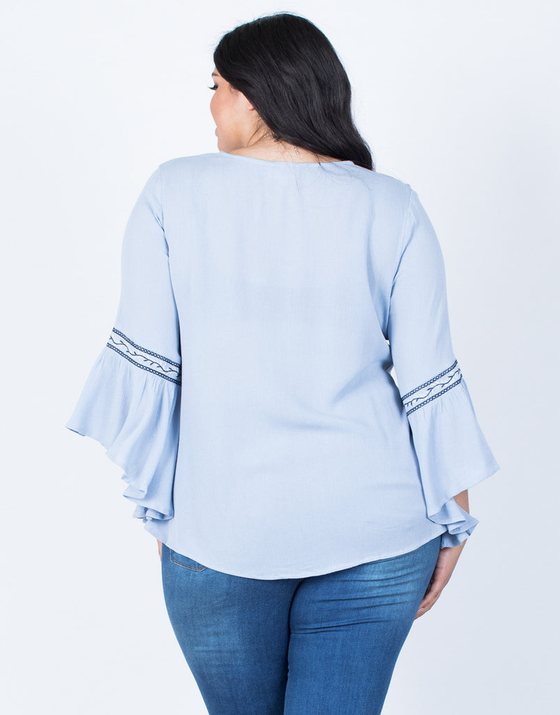Back View of Plus Size Sway Boho Top