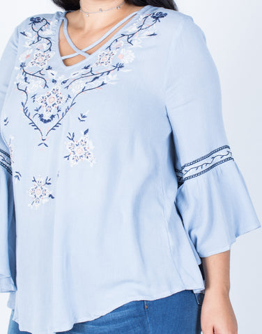 Detail of Plus Size Sway Boho Top