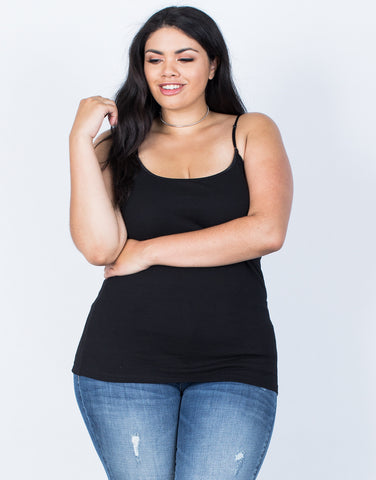 Front View of Plus Size The Essential Cami
