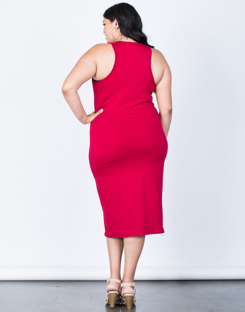 Back View of Plus Size The Essential Dress