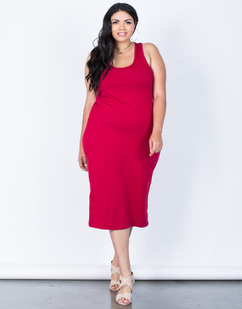 Front View of Plus Size The Essential Dress