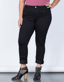 Black Plus Size The Everyday Pants - Front Detail