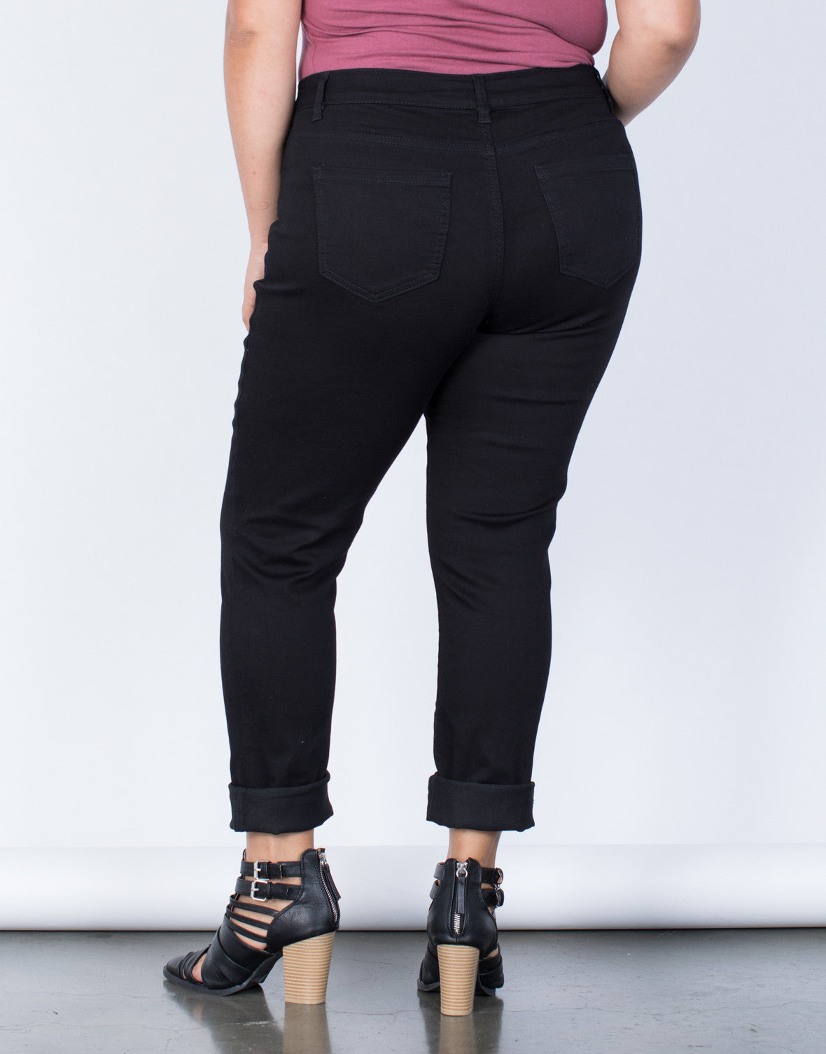 Black Plus Size The Everyday Pants - Back View