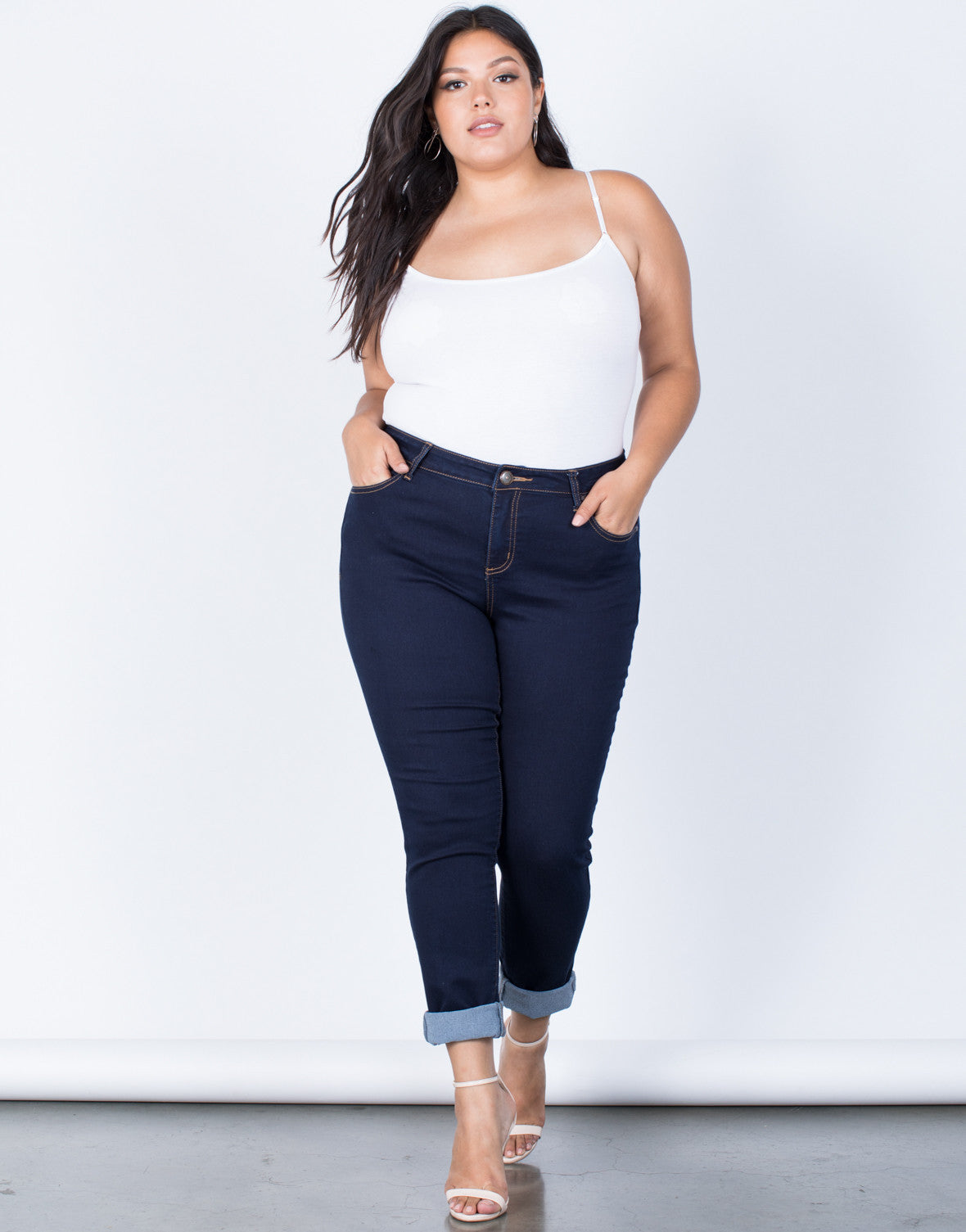 Dark Blue Plus Size The Everyday Pants - Front View
