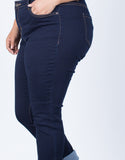 Dark Blue Plus Size The Everyday Pants - Detail