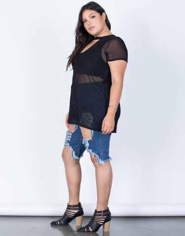 Plus Size The Mesh Tunic - 2020AVE