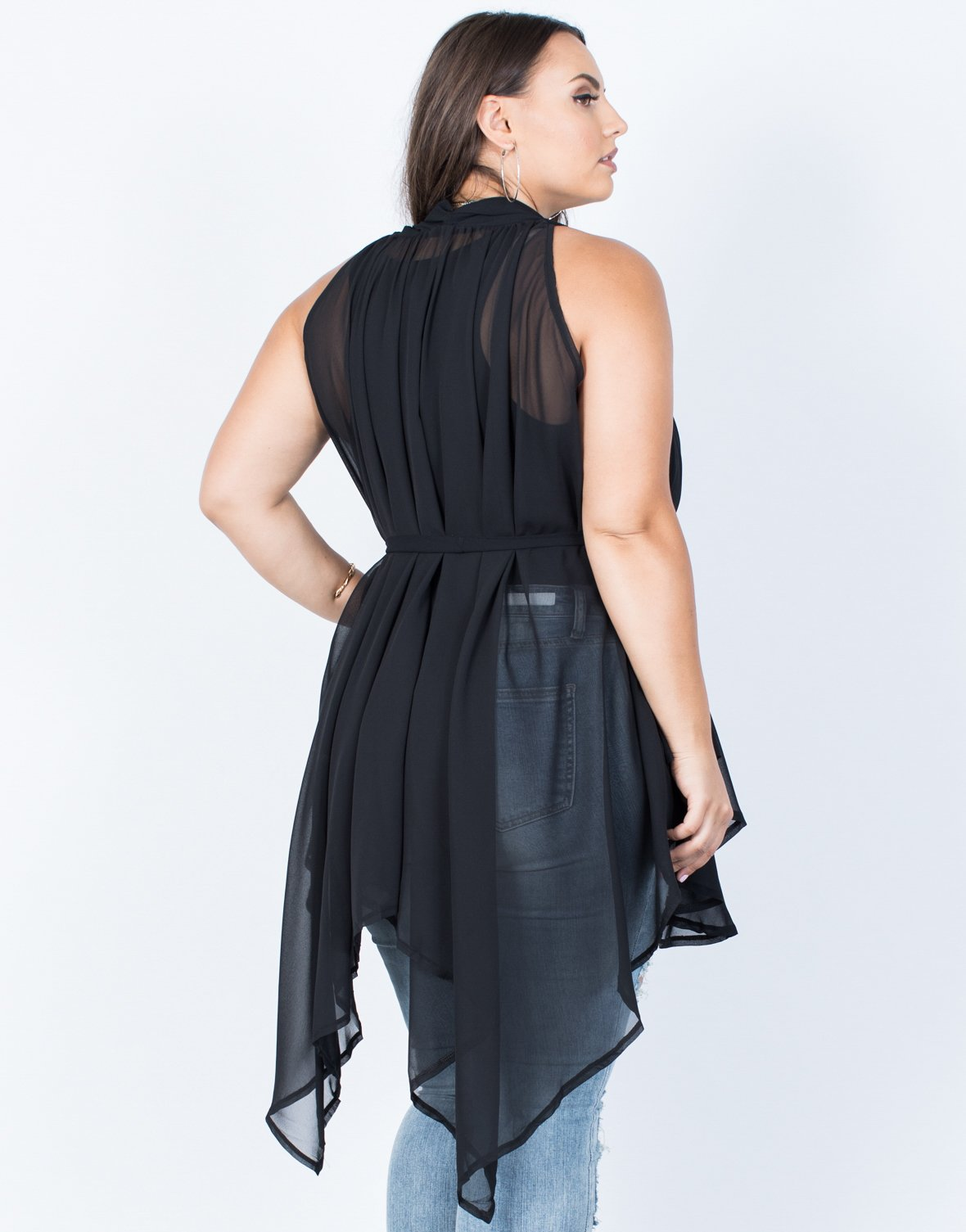 Plus Size Totally Sheer Tunic - 2020AVE