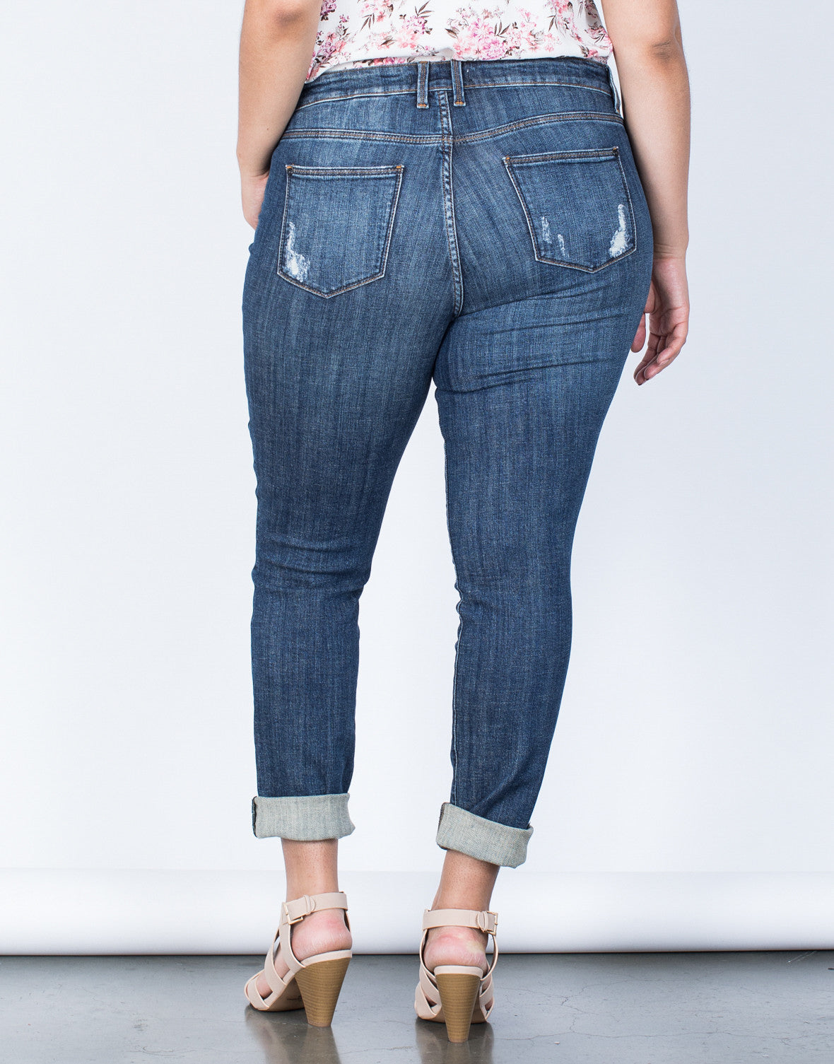 Back View of Plus Size Ultimate Fave Jeans