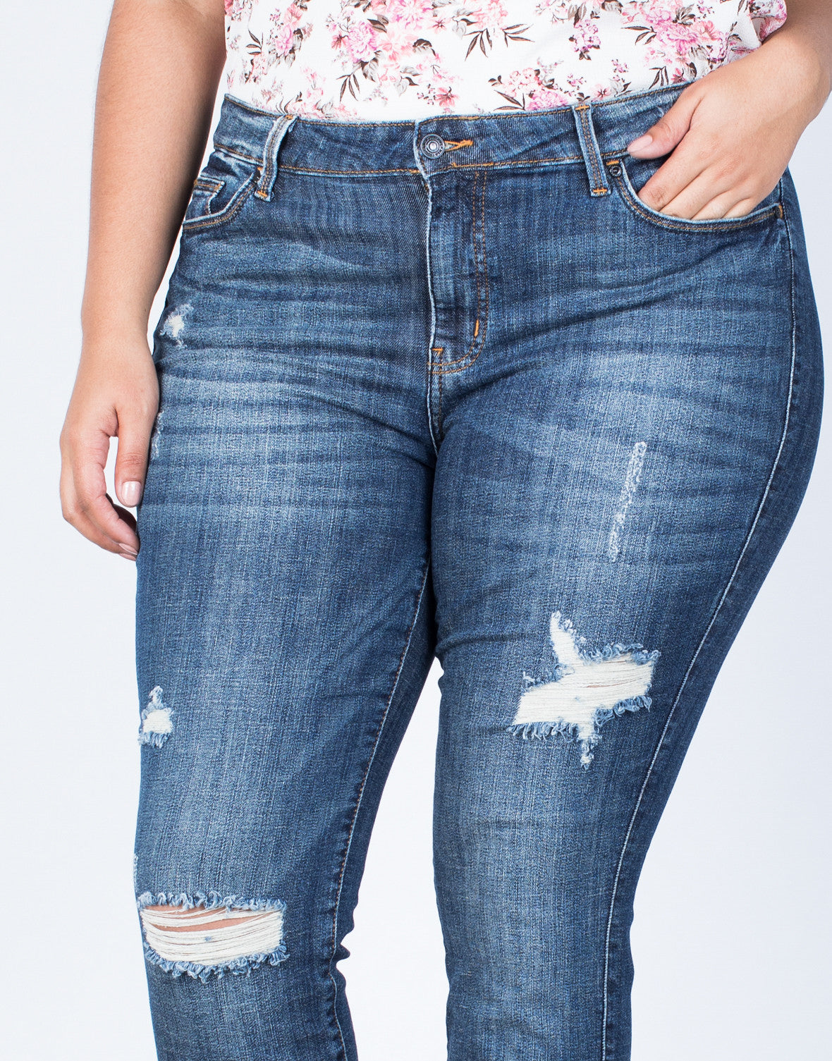 Detail of Plus Size Ultimate Fave Jeans