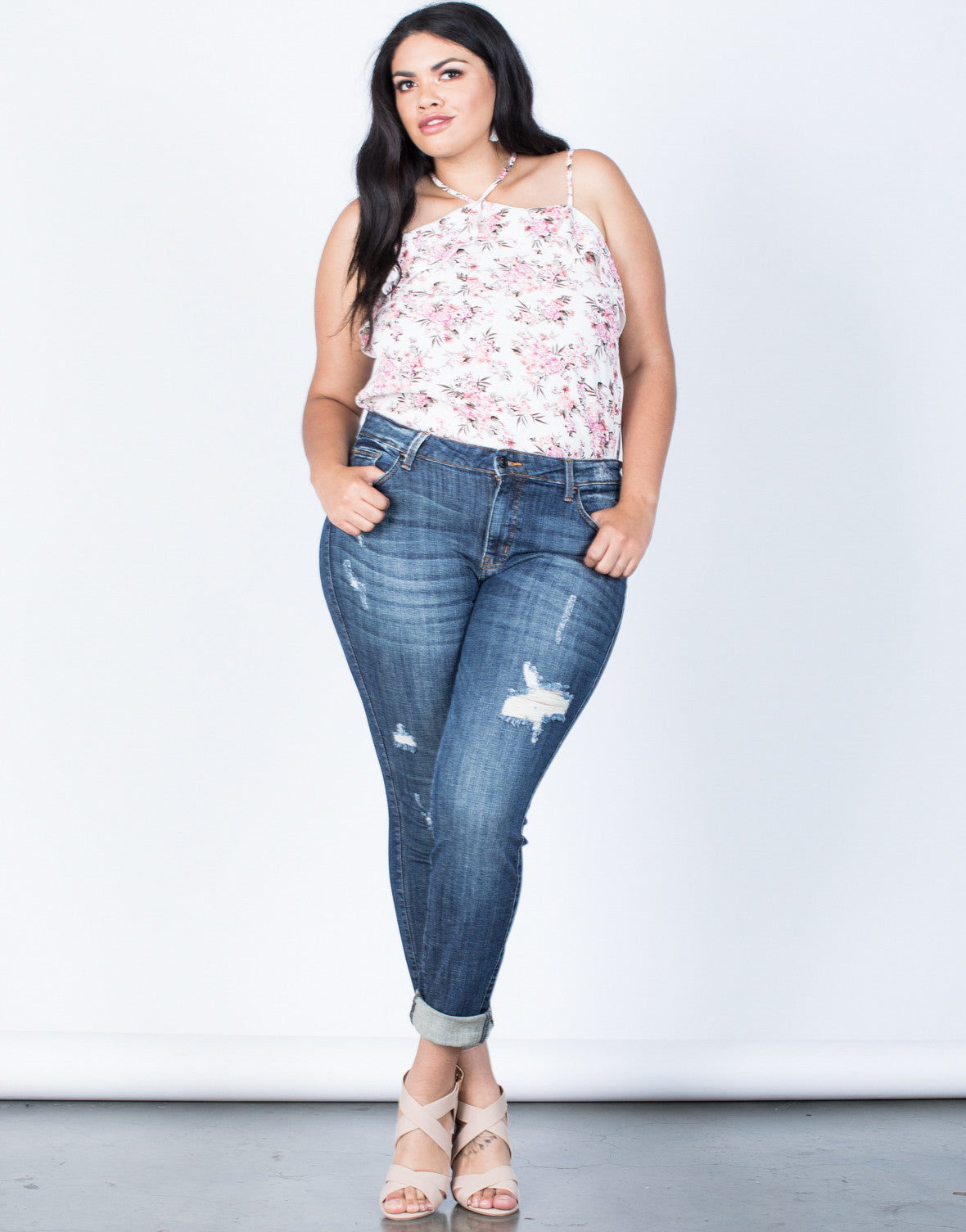 Front View of Plus Size Ultimate Fave Jeans
