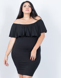 Plus Size Wavy Ruffled Dress - 2020AVE