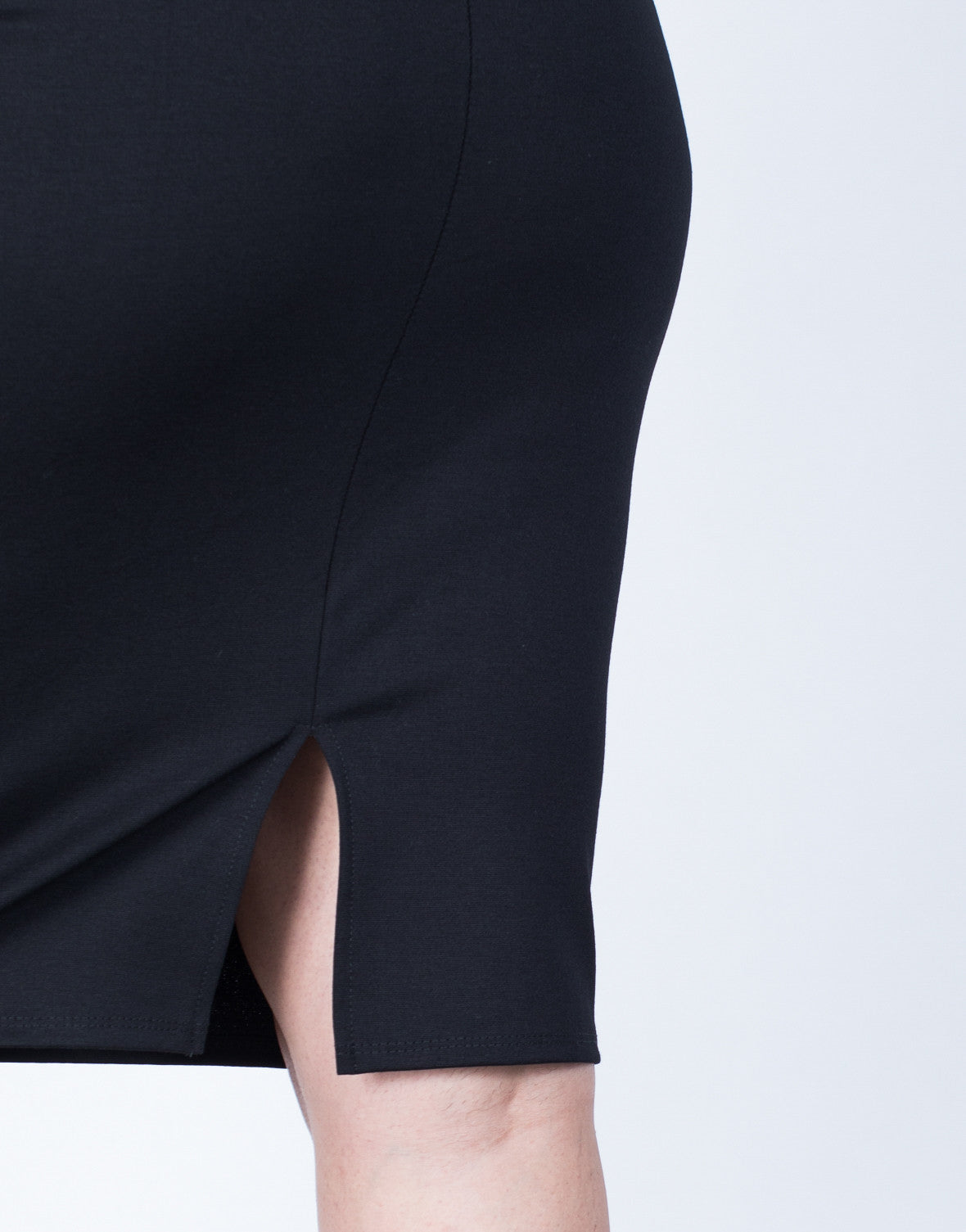 Detail of Plus Size Your Classic Bodycon Skirt