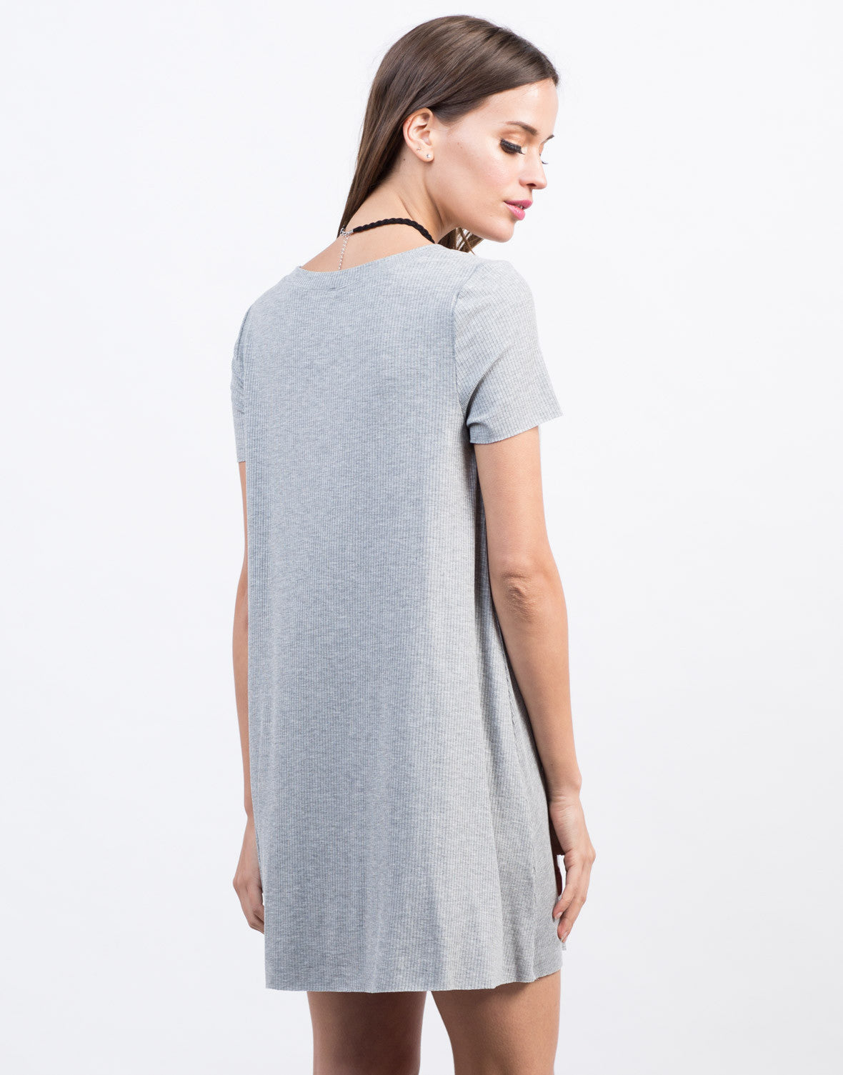 Back View of Pocket Tee Dress