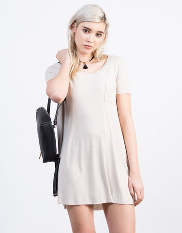 Front View of Pocket Tee Dress