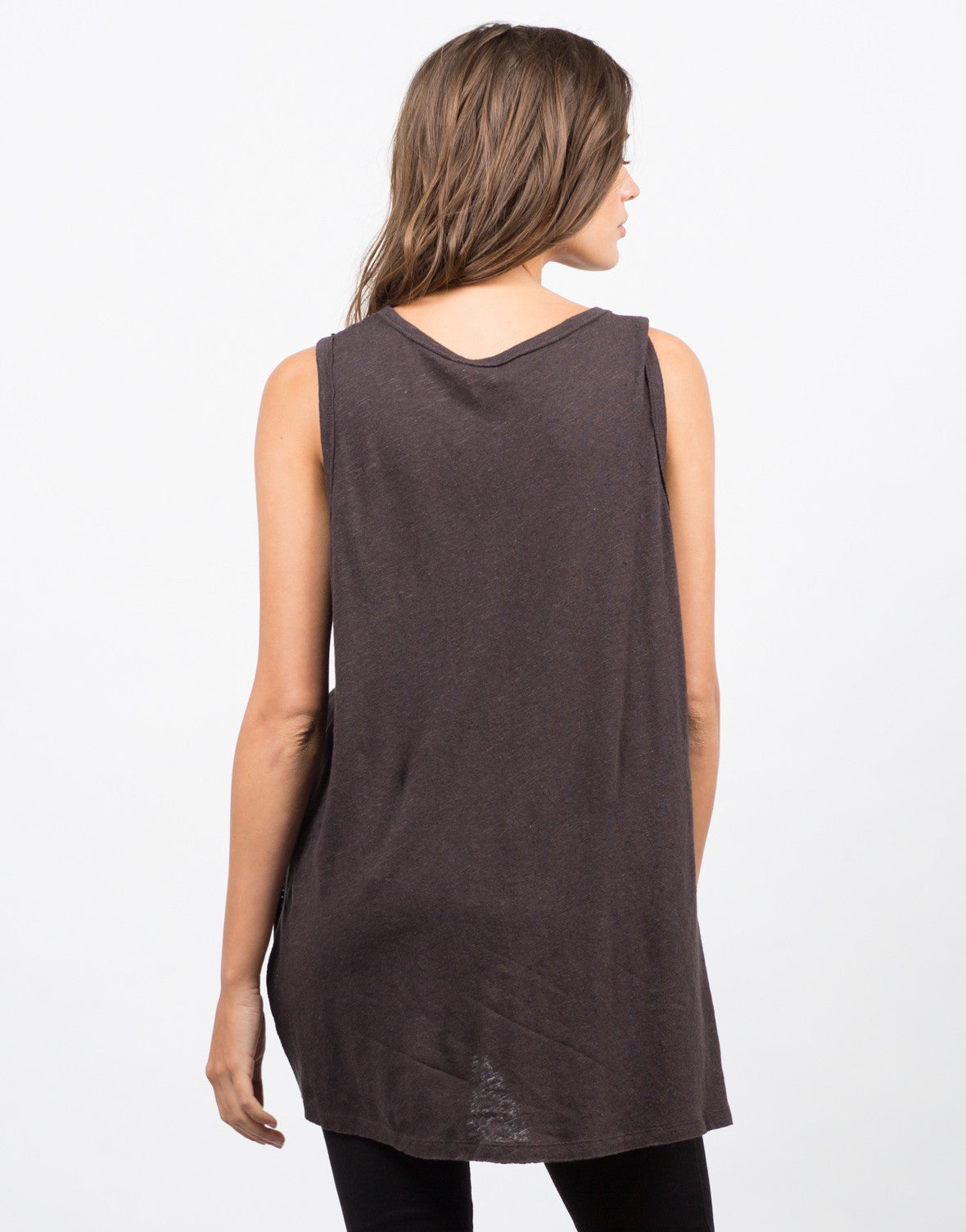 Back View of Pocket Slit Tank