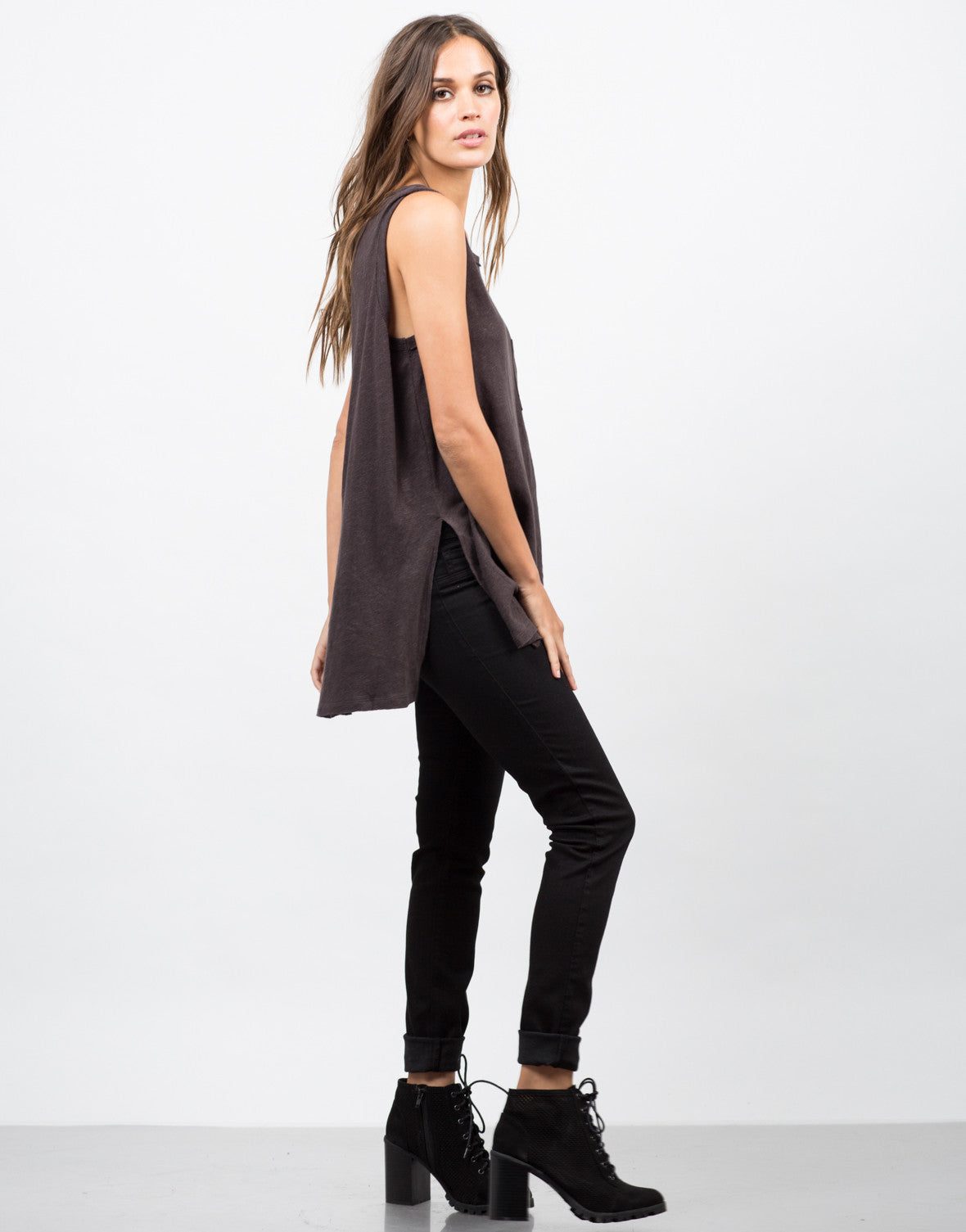 Pocket Slit Tank - 2020AVE
